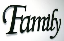 family metal sign in black metal wall art home decor