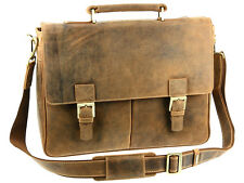 Visconti Large Real Hunter Leather Briefcase Shoulder Bag - Oil Tan ( 18716 )