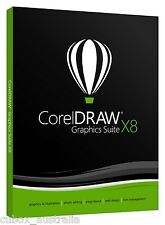 CorelDraw Graphic Suite X8 Software EDU ACADEMIC PC WIN DVD, Not Corel Draw X7