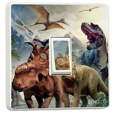 Dinosaurs Single Light Switch Sticker vinyl cover skin wall decal Bedroom