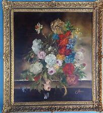 Ölgemälde Blumen Stillleben Niederländer Altmeister Stil Heinrich Garossa ~1940
