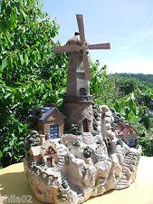 Heissner Landschaftbrunnen mit elektrischem Mühlrad Seltenheit