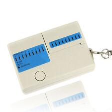 Neu Tasche LED Ethernet 4 Port RJ45 RJ11 Cat5 Netzwerk LAN Kabel Tester