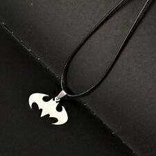 Silver Batman Pendant Stainless Steel Pendant with Chain Necklace