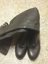 BLACK OVER KNEE BOOTS FROM NEW LOOK SIZE 7/40