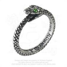 Alchemy - The Sophia Serpent - Pewter and Crystal Ring - Size N