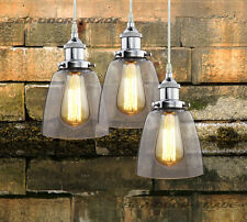 Modern Chrome Glass Vintage Industrial Retro Fitting SHADE Edison Pendant Light