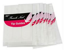 """Nail Art French Manicure Guides """"Curved"""" Half Moon Styles Tips Stickers Stencil"""