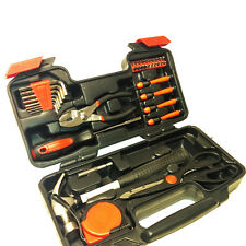 39 Piece Household Hand Tool Set Kit Box With Hard Storage Case