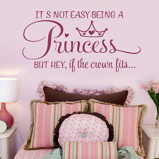 Girls Room Wall Sticker Bed room Princess Quote Decal Vinyl Transfer SMLPINK go6