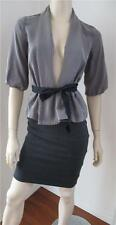 H & M grey belted jacket size AUS 10 US 6
