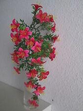 Deko Blumen Ranke mit Stiel 40cm 28 Blüten Künstliche Kunst Blume Pflanze Busch
