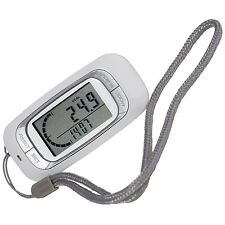 White 3D Walking Sensor Pedometer Activity Tracker Counter Double LCD Display