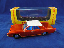Dinky Toys 170 Lincoln Continental in Bronze with White Roof, Scarce Box Superb