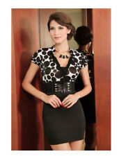 HOT Black Polka Dot Mini Dress Gown 8 10 12 Wedding Party Christmas womens sexy