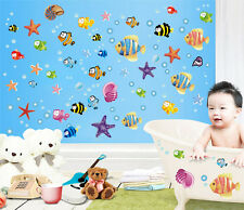 Colourful Fish Nemo Stars Sea Children's Wall Decals Stickers Nursery Bathroom