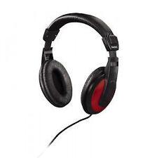 Hama HK-3031 Kopfbügel Kopfhörer - Schwarz/Rot