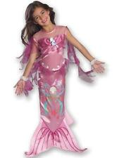 Child Age 5-7 Years Pink Little Mermaid Party Fancy Dress Costume Kids Girls