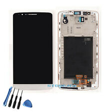 LG G3 D850 D851 D855 LCD Screen Display with Digitizer Touch & Bezel Frame White