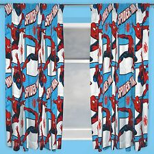 "MARVEL SPIDERMAN 'PARKER' 66"" x 72"" CURTAINS NEW BEDROOM KIDS"