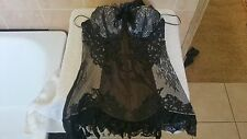 Ann Summers Marie Corset Basque Black Size 12 New With Tags