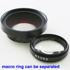Pixco 52mm 0.45x Wide Angle Camera Lens Converter + Macro for Canon  67mm front