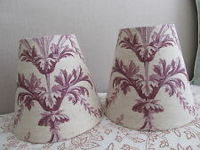 Handmade Candle Lampshade  Laura Ashley Tuileries Toile de Jouy Fabric