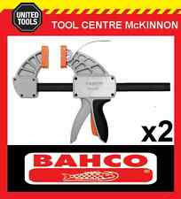 """2 x BAHCO SUPERIOR QCS-150 6"""" / 150mm QUICK CLAMP – 300kg CLAMPING FORCE"""