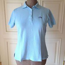 VTG Iconic LACOSTE Izod Lt Blue POLO Tennis Shirt Top T Shirt 100% Cotton L