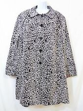 LANE BRYANT Black & White Coat Pink Lining Plus Size 26/28 26W 28W NWOT