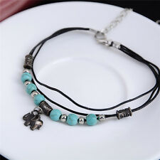 Chic Turquoise Elephant Chain Anklet Bracelet Foot Jewelry Barefoot Sandal Beach