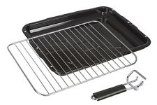 Universal Oven Cooker Grill Pan Tray Complete with Rack & Handle 387mm x 300mm
