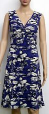Beautiful Desigual Twilight Blue Jersey Floral Dress Size XXL