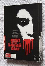 NIGHT OF THE LIVING DEAD (DVD, 2-DISC SET) R-4, LIKE NEW, FREE SHIPPING AUS-WIDE