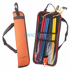 Portable Drumstick Bag Holder Waterproof Drum Sticks Shoulder Cases Orange NEW
