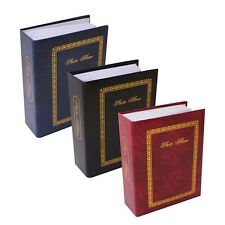 """6"""" X 4"""" Traditional Photo Album with 100 Pockets Black, Blue or Burgundy - 1124"""