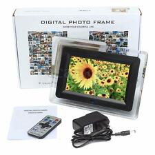 """7"""" TFT-LCD Digital Photo Movies Frame MP3 MP4 Player Alarm Remote Control Gift"""