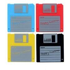 Untersetzer Diskette aus Silikon Bierdeckel Floppy Coaster Retro im 4er Set