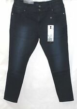 PLUS SIZE 18 *CITY CHIC* BNWT TDF DARK DENIM HOURGLASS SKINNY HI WAIST JEANS