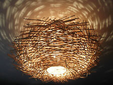 Unusual Hand Made Birds Nest ceiling lamp shade -Twisted Rattan Lamp shade LARGE