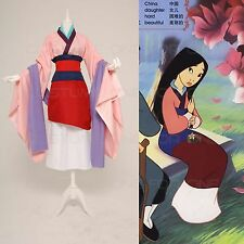 Mulan Dresses Full Set Halloween Party Cosplay Costume Outfit Custome Made
