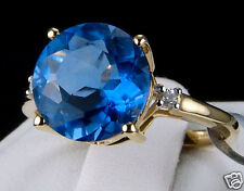 REDUCED! 4.31ct Color Change Fluorite with Accents 10k Solid Gold Ring Size 7