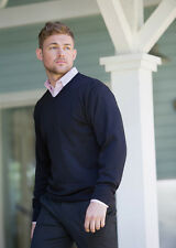 Russell J710M V-Neck Knitted Sweater - Navy Size S