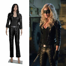 Leather Jackets Pants Outfit Arrow Black Canary Sara Lance Womens Costume