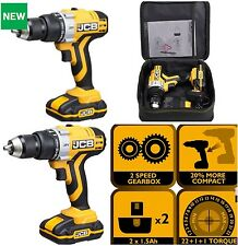 Cordless Lithium Combi Drill JCB 20V X2 L-ION Batterys+ CHARGER