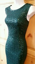NEW LOOK STYISH SEQUINED EVENING DRESS SIZE 12 WIGGLE MINI CRUISE COCKTAIL PARTY
