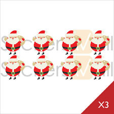 Christmas Santa Claus Vinyl Wall Stickers, Wall Decals, Removable Peel and Stick