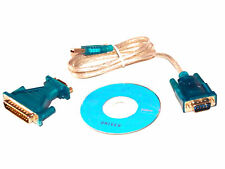 USB 2.0 to 9 Pin Serial RS232 Cable DB9 to DB25 Male Adapter Connector