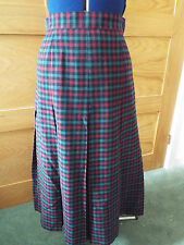 OPTIONS AT AUSTIN REED PLEATED WOOL CHECK SKIRT - SIZE 8