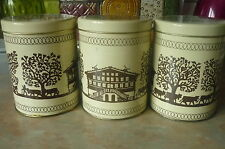 VINTAGE RUSTIC FARMHOUSE COUNTRY STYLE STORAGE TINS SET OF 3 HEART LID DETAIL